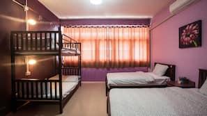 Blackout drapes, free WiFi, linens