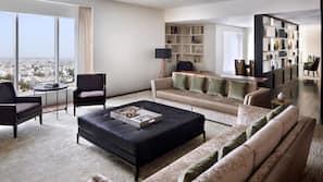 Pillow top beds, minibar, in-room safe, desk
