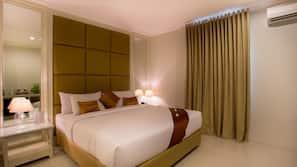In-room safe, desk, blackout curtains, free cots/infant beds