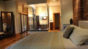 Premium bedding, blackout drapes, iron/ironing board, free rollaway beds