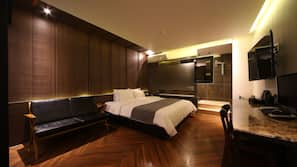 Premium bedding, down comforters, free WiFi, linens