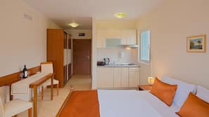 1 bedroom, desk, soundproofing, iron/ironing board