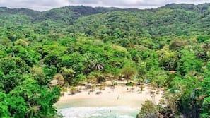Private beach, white sand