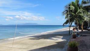 On the beach, scuba diving, beach bar, kayaking