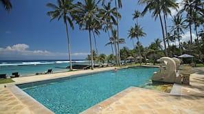 On the beach, beach massages, scuba diving