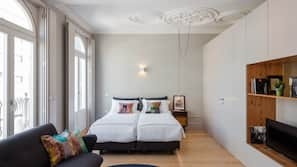Premium bedding, down comforters, iron/ironing board