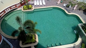 Outdoor pool, open 8:30 AM to 10:00 PM, pool umbrellas, sun loungers