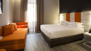 Ropa de cama de alta calidad, caja fuerte, cortinas opacas