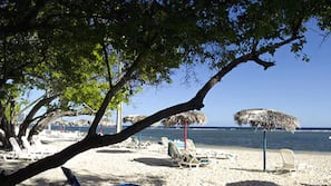 White sand, beach bar