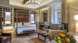 Frette Italian sheets, memory foam beds, in-room safe