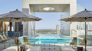 Indoor pool, seasonal outdoor pool, pool cabanas (surcharge)
