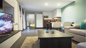 1 bedroom, blackout drapes, iron/ironing board, linens