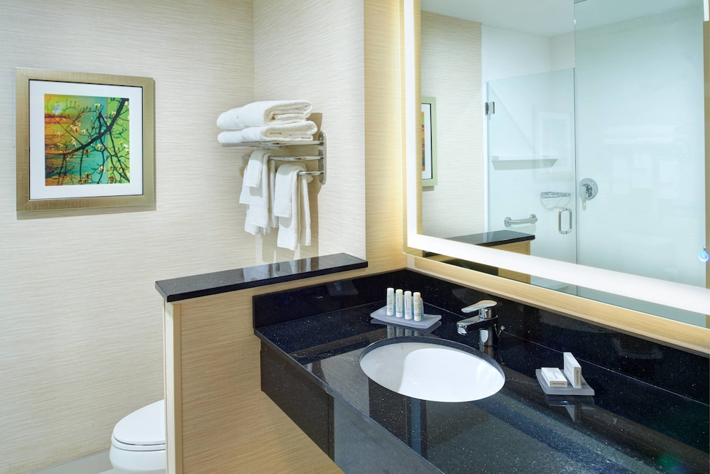 Bathroom, Fairfield Inn & Suites by Marriott Detroit Troy