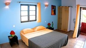 Premium bedding, desk, laptop workspace, cribs/infant beds