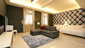 設計每間自成一格、家具佈置各有特色、窗簾、摺床/加床 (收費)