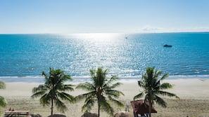 On the beach, beach massages, beach volleyball, kayaking