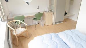 Kontorområde til laptop, gratis Wi-Fi, sengetøj