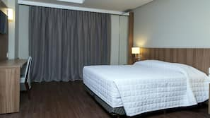 Free minibar items, in-room safe, desk, blackout curtains