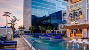 Seasonal outdoor pool, open 10:00 AM to 10:00 PM, cabanas (surcharge)