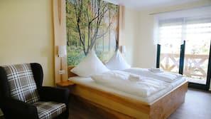 1 Schlafzimmer, hochwertige Bettwaren, Babybetten, Zustellbetten