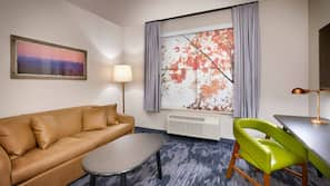Pillowtop beds, desk, laptop workspace, iron/ironing board
