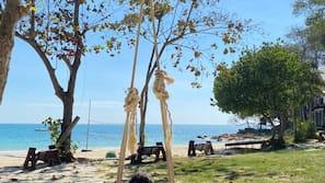 Aan het strand, strandlakens