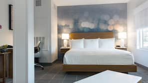 Premium bedding, memory-foam beds, in-room safe, individually decorated