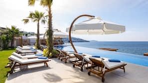 Außenpool (je nach Saison geöffnet), beheizter Pool, Cabañas (kostenlos)