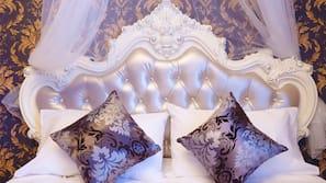 羽絨被、設計自成一格、免費 Wi-Fi、床單