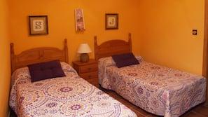 4 sovrum, sängtillbehör av högsta kvalitet och mörkläggningsgardiner