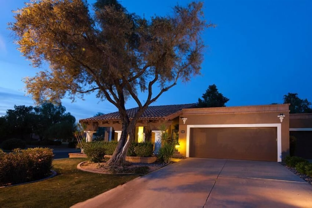 Front of Property - Evening/Night, McCormick Ranch Santa Fe Home By Signature Vacation Rentals
