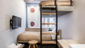 Decoración individual, wifi gratis, ropa de cama
