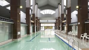 Indoor pool, outdoor pool