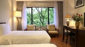 Pillow-top beds, minibar, in-room safe, desk