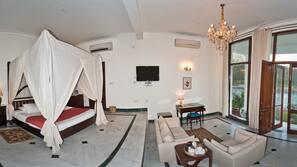 Minibar, desk, rollaway beds