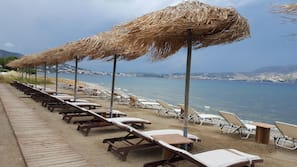 On the beach, beach bar