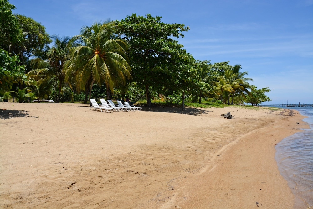 Beach, Rock Point Villas Vacations Rentals Sandy Bay, Roatan, Honduras.c.a