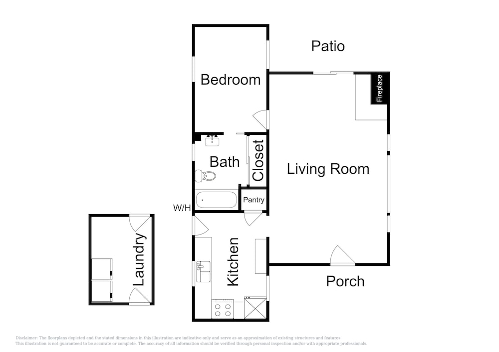 Floor plan, Vintage Balboa Island Charmer by RedAwning