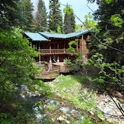 Log Cabin on the Stream