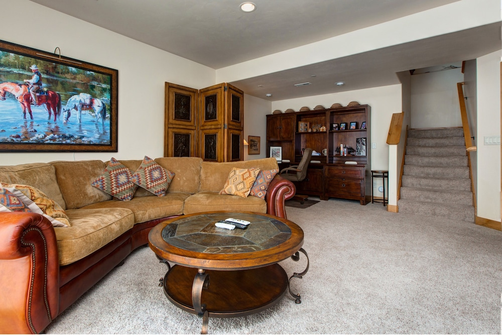 Living Room, Luxury Log  In Park City 4 Bedroom Townhouse