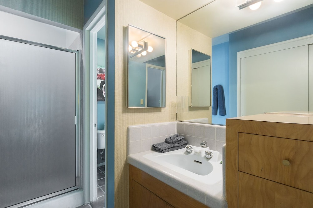 Bathroom, Time Capsule Rental with Pool and Spa by RedAwning
