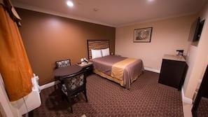 Premium bedding, memory foam beds, desk, iron/ironing board
