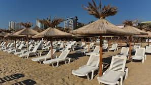 Privatstrand in der Nähe, kostenloser Shuttle zum Strand, Liegestühle
