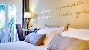 高档床上用品、迷你吧、客房内保险箱、遮光窗帘