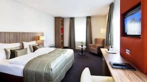 1 slaapkamer, luxe beddengoed, een minibar, een kluis op de kamer