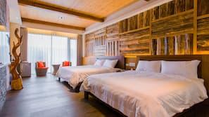 1 間臥室、埃及棉床單、高級寢具、羽絨被