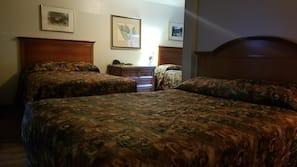 Desk, blackout drapes, rollaway beds, free WiFi