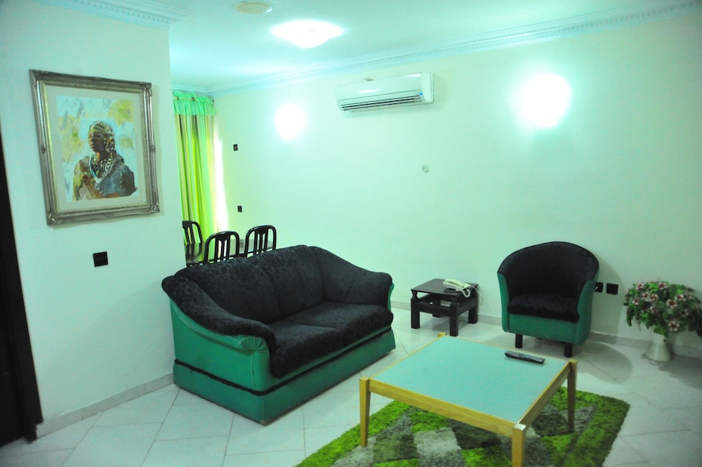 Living Area, Peemos Place Warri