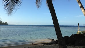 Plage, sable blanc, kayak