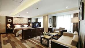 Ropa de cama de alta calidad, minibar, escritorio y cortinas opacas